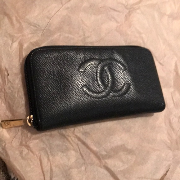 8a23d8bbe0124c CHANEL Handbags - Chanel Black Caviar Timeless Classic Zippy Wallet